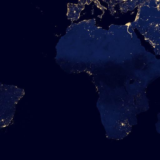 全景地球 深夜灯光